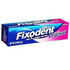 Fixodent Denture Adhesive Cream, Original- 0.75 Oz, 6 Pack
