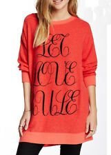 Wildfox Couture Let Love Rule Road Trip Sweater Dress In Red Size XS