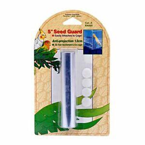 "Penn Plax Birdie bird cage seed guard 80"" X 5"" basic wrap Medium tab closure"