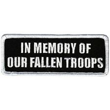 IN MEMORY OF OUR FALLEN TROOPS Vet POW MIA Veteran Military Biker Patch PAT-0948