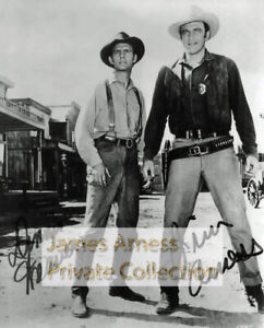 James Arness Gunsmoke Marshal Dillon With Dennis Weaver Signed Photo #050121A