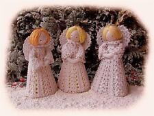 THREE LITTLE CHRISTMAS ANGELS knitting pattern by GEORGINA MANVELL