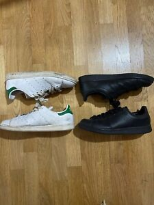 ADIDAS STAN SMITH lotto di due paia di sneakers usate colore total black e verde