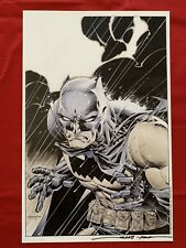 "Batman Print Signed By Scott Williams 11""x17"" DC Comics 2016"