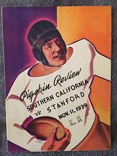 1939 Stanford vs U.S.C. Program Football Program FRANKIE ALBERT ERNIE NEVERS!!!!