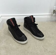 Women's Prada High top Trainers Sneakers Shoes Leather Size 39 RRP £410