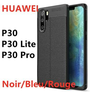 Huawei P30 / Lite /P30 PRO Case Cover Coque housse etui effet cuir silicone