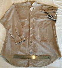 ABERCROMBIE & FITCH CO Men's Long-Sleeve Shirt Size 15-1/2 R Beige Checks