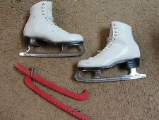 Vintage Riedell 355 Silver Star Ice Skates Size A5 Wilson Majestic Blades 9-3/4