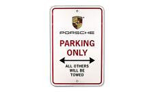 Genuine PORSCHE OEM Garage Sign Parking Only PNA 701 001 00 NEW