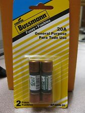 Cooper Bussmann 250V 20A Fuse (2) Pack #BP/NON-20  New in Package Free Ship