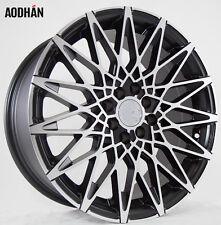 17X7.5 +35 AodHan LS001 4X100 BLACK MACHINED Wheel Fit MINI CLUBMAN S JOHN WORKS