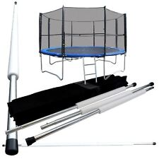 10FT 8 Poles Replacement Trampoline Safety Net Surround Set with Poles & Fixings