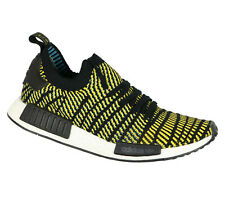 ADIDAS NMD R1 Running Shoes sz 11 Black Yellow Stealth Pack Primeknit