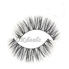 1 Pair 100% Real Horse Hair Natural Messy Thick Handmade False Eyelashes Makeup