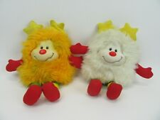 Vintage Rainbow Brite 1983 Orange Sprite and White Sprite Plush