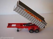1/60 MATCHBOX SUPER MOVERS DUMPING HYDROLIC TRAILER ONLY