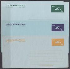 Fiji mint c. 1985 Flying Fish Aerogrammes, 3 different VF