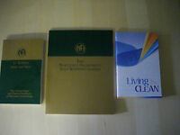Narcotics Anonymous 3 book set-It works How & Why, Living Clean, Step Guide -NEW