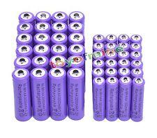 24 AA +24 AAA 1.2V 1800mAh 3000mAh NiMH Purple Rechargeable Battery Cell