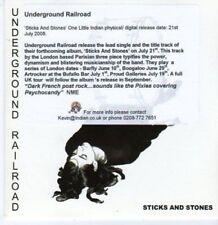 (BK851) Underground Railroad, Sticks & Stones - DJ CD