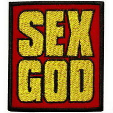 Sex God Punk Rock Embroidered Iron on Patches