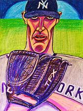 ANDY PETTITTE PRINT poster baseball pitcher new york yankees world series glove
