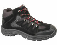 Mens New Black Lace Up Hiking Trekking Walking Boot Size 6 7 8 9 10 11 12