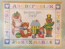 Dimensions Cross Stitch Kit Playful Teddies Birth Record 3616 SEALED