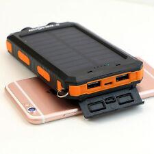 300000mAh Powerbank Solar Akku Externe Batterie Zusatz Ladegerät USB Smartphone