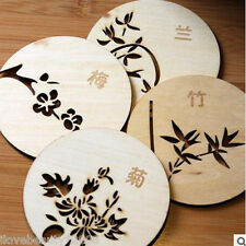 Hot Cork Wood Drink Coaster Tea Coffee Cup Pads Table Decor Tableware Mat Random