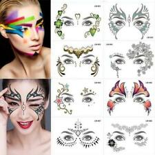Gesicht Temporäre Tattoo Sticky Weddings Party Gesicht Körper Make Up Hot R3Q5