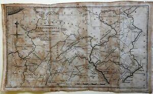 Pennsylvania early scarce state map 1796 Amos Doolittle map Wheat & Brun #446
