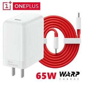 For OnePlus 9 9R 8T 7T Pro Nord N10 N100 65W Warp Charger 6ft Dual USB-C Cable