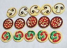Melissa & Doug 15 Pieces Wooden Play Food Pizza Toppings Replacement Party