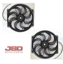 "2Pcs 16"" Inch Universal Fan Radiator Cooling Push Pull & Mounting Kit 3700"