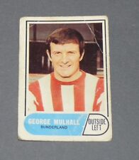 A & BC GUM CARD FOOTBALL ENGLAND 1969 GEORGE MULHALL SUNDERLAND BLACK CATS