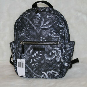 Vera Bradley Iconic Small Backpack Bag Purse in Foxwood Navy NWT $135 LAST One!