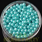 New 50pcs 6mm Round Glass Pearl Loose Spacer Beads Jewelry Making Lake Blue