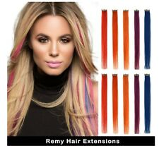 Real Coloured Hair Extensions 5 Colours 16 Inch 10 Pcs Remy Clip In Hair Extensi