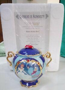 Ardleigh Elliott Music Box Disney Cinderella 50th Anniversary Inc Certificate BN