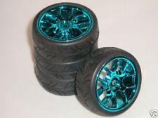 Ruote , cerchi e pneumatici ruote blu per modellini radiocomandati Scala compatibile 1:10