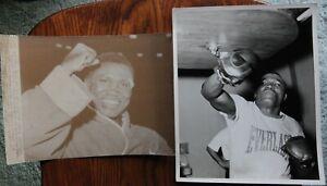 2 Different Original Vintage Boxing Photos: Dick Tiger
