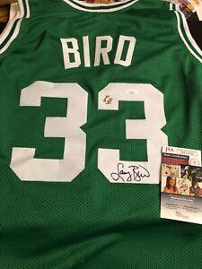 Autographed Larry Bird Boston Celtics Jersey JSA certified Signed Bird hologram