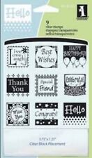 Inkadinkado Cling Rubber Stamp Set All Occasions Inchie Sentiments live love
