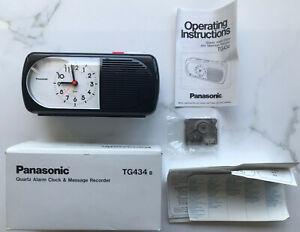 Panasonic TG434 B Quartz Alarm Clock Message Recorder Japan Matsushita TG434B