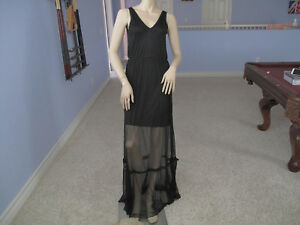 Bebe Black Mesh Maxi Dress NWT$139~Small~Only One~