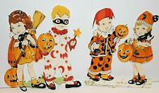 "Halloween Vintage Iron On Appliques 4 1/2"" x 4 1/2"" Hand Cut Already Backed"