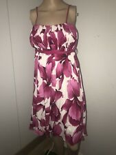 ZARA DRESS MINI MAXI FLORAL WHITE PINK SIZE M SUMMER HOLIDAY BEACH PARTY BLOGGER