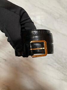 Bottega Veneta - Vintage lizard skin belt - size 85/34